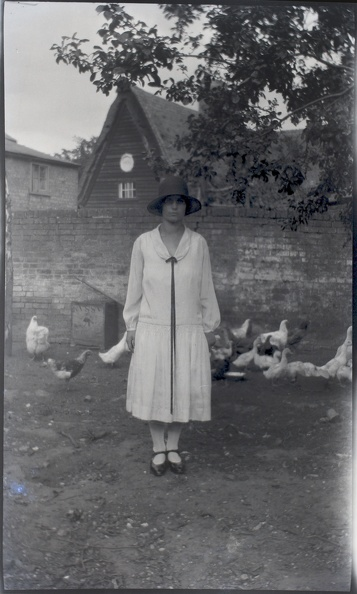 Woman with Hens