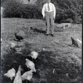 One man and his chickens