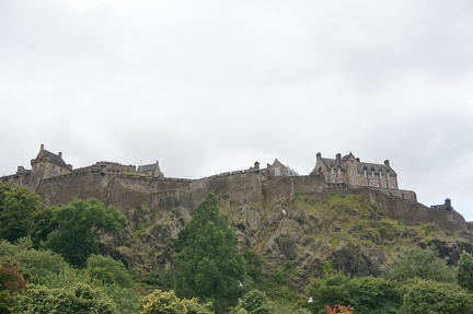 Edinburgh Castle from Princess Gardens