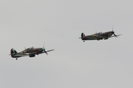 BBMF Spitfire and Hurricane