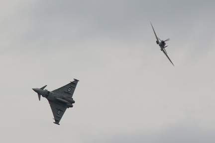 RAF Spitfire and Eurofighter Typhoon Sychro Pair