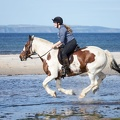 Riding on Nairn East Beach