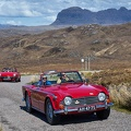 Triumph TR250 with Triumph Spitfire behind