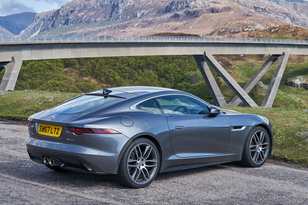 Jaguar F Type at Kylesku Bridge