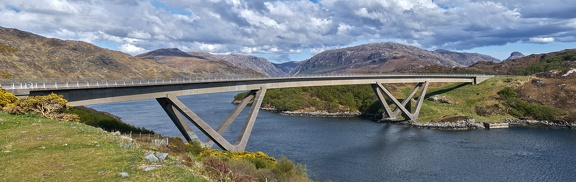 Kylesku Bridge panorama