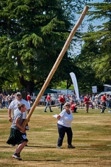 Junior caber tossing begins