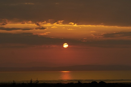 Sunset over the Moray