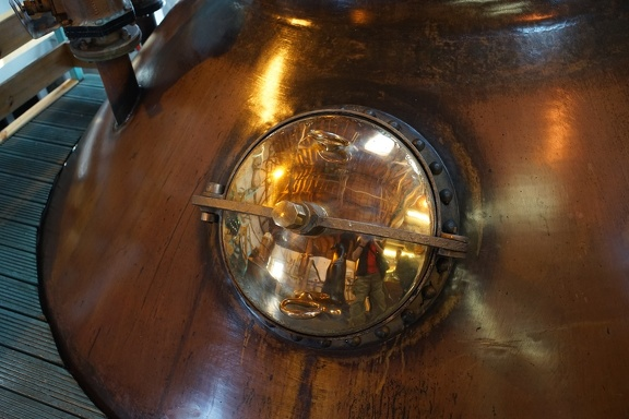 Self portrait in a whisky still